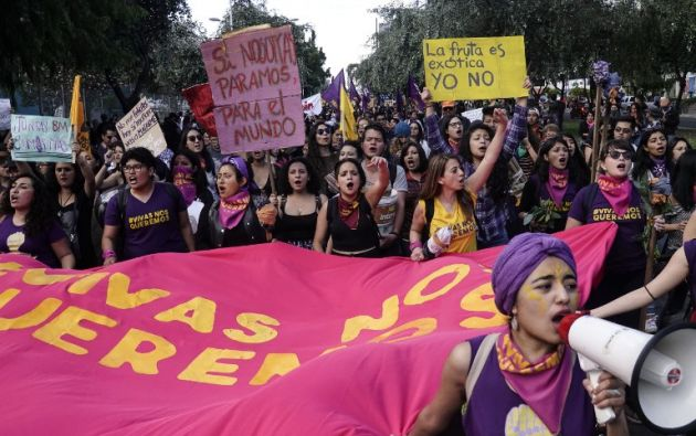 En Ecuador, seis de cada 10 mujeres viven algún tipo de violencia. Foto: AFP