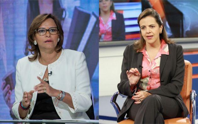 En el audio se escucha a Cabezas, manteniendo una presunta conversación con la ministra del Interior, María Paula Romo. Foto: Collage Vistazo