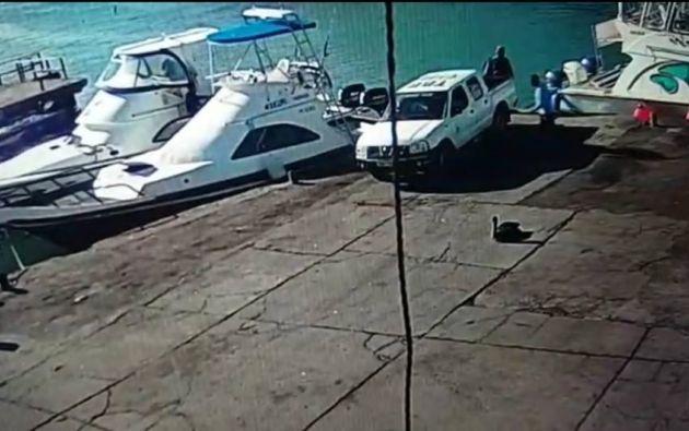 Según las autoridades locales se va a realizar una investigación para encontrar a la persona que manejaba el vehículo. Foto: Parque Nacional Galápagos.