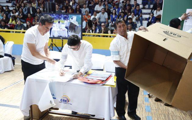 El segundo ejercicio preparatorio de los comicios seccionales contará con la participación de 30 observadores de la OEA. Foto: CNE.
