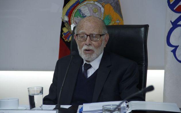 Julio César Trujillo, presidente del Consejo de Participación Ciudadana Transitorio.