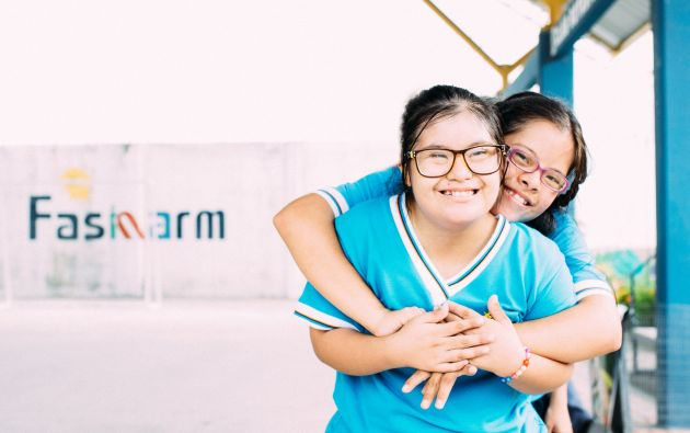 """Cada año el Día Mundial del Síndrome de Down se focaliza en un lema. Para este 2019 se centrará """"No dejar a nadie atrás"""". Foto: Fasinarm."""