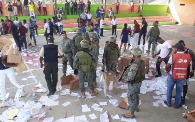 En esa circunscripción se destruyeron las urnas y el material electoral.