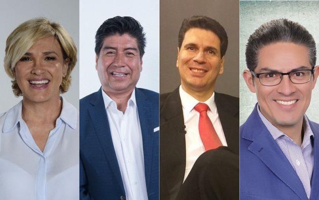 Viteri, Yunda, Palacios y Altamirano. Foto: Collage Vistazo