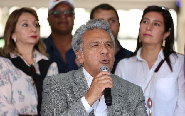 """Según Moreno, """"todo esto está organizado premeditadamente, dentro de una estrategia de desestabilización del país"""". Foto: Flickr Presidencia"""