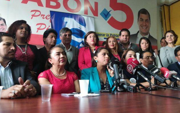 """""""Nosotros tenemos nueve concejales y no nos los vamos a dejar quitar"""", dijo Maldonado. Foto: Twitter @AlexTonello5"""
