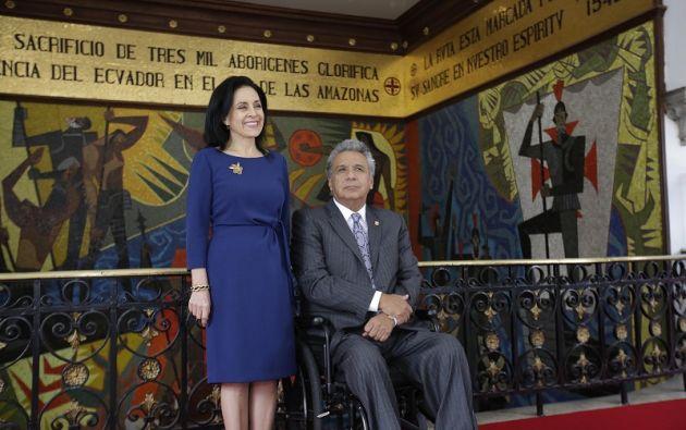 El Presidente de la República, Lenín Moreno, y su esposa, Rocío González. Foto: Flickr Presidencia