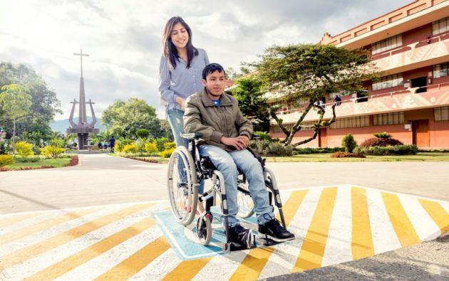 En la Universidad Particular Técnica de Loja estudian 654 alumnos con discapacidades, entre las modalidades Abierta y a Distancia, y modalidad Presencial. Foto cortesía UTPL