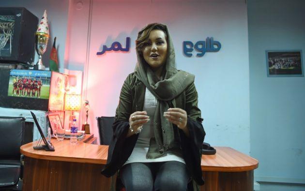"""Zara Elham ganó la versión afgana del programa """"American Idol"""" y se convertió en un símbolo para muchas jóvenes de su país. Foto: AFP."""