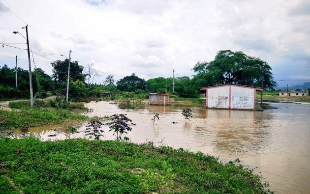 Los aguaceros destruyeron 120 viviendas y 7.692 hectáreas de cultivo. Foto: Secretaría Nacional de Gestión de Riesgos.