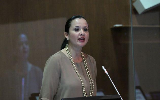 "Aquellos que se están sobando las manos, que próximamente van a tener la curul de Marcela Aguiñaga, les va a tocar esperar bastante"", dijo la asambleísta. Foto: Flickr Asamblea"
