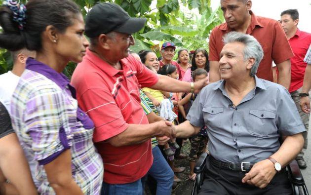 """Moreno afirmó que son """"35.000 personas las que están damnificadas"""" en todo el país. Foto: Twitter @ComunicacionEc"""