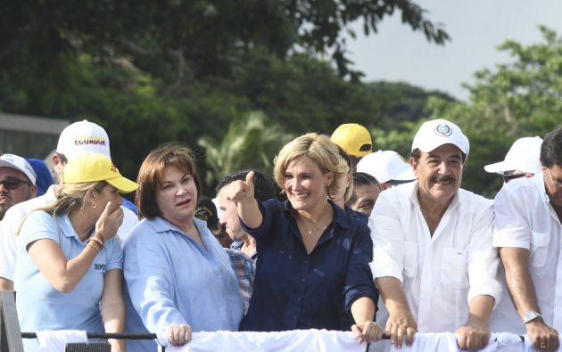 La tendencia muestra que en zonas con propiedades con un valor superior en Guayaquil, fue donde más apoyo consiguió Viteri. Foto: Twitter @CynthiaViteri6