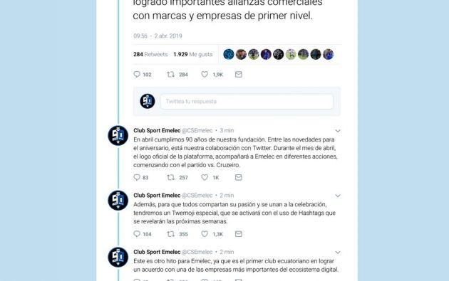 Este martes, las redes sociales oficiales del club anunciaron una novedosa alianza con la red social Twitter.
