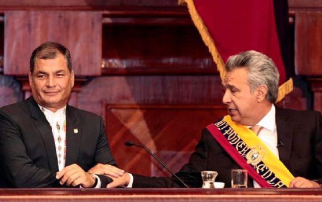 """El expresidente Correa calificó de """"vergüenza"""" la entrevista de Lenín Moreno con AER, y subrayó que se pasó """"insultándome a mi y a mi familia""""."""