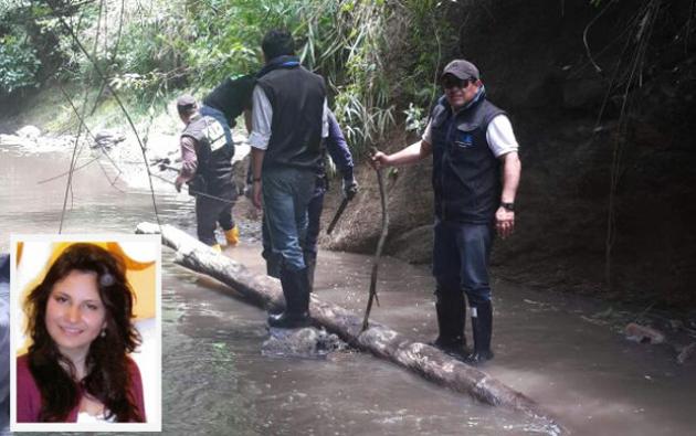 Jonathan C. arrojó el cuerpo sin vida de Juliana Campoverde en la quebrada de Bellavista, en Quito.