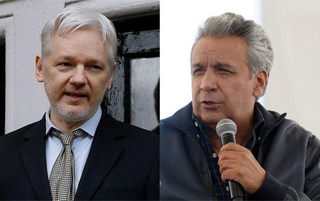 """""""Ya demasiadas veces el señor Assange ha redundado en sus violaciones al acuerdo que llegamos con él"""", dijo Moreno. Foto: collage Vistazo"""
