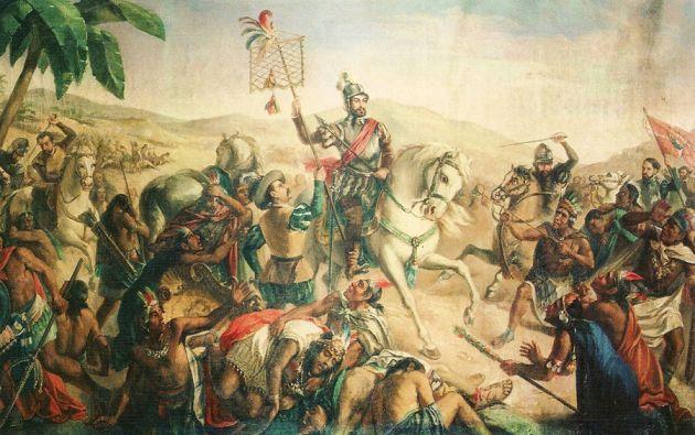 """Para el 53 % de los mexicanos, la caída hace 500 años de Tenochtitlan, capital azteca y actual Ciudad de México, es un hecho que """"dio origen al México actual""""."""