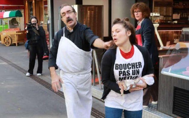 """Los activistas provienen de un movimiento que se describe a sí mismo como """"antiespecista"""". Foto: AFP."""