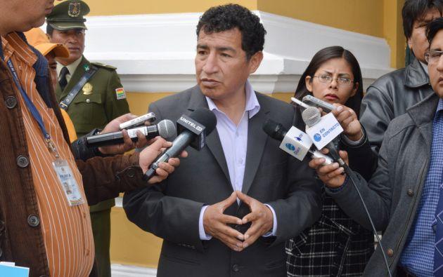 """El presidente interino, Víctor Borda, dijo que ejercerá este """"reto tan importante"""" en algunas actividades en la sede del Gobierno boliviano."""