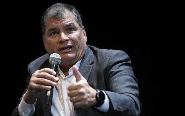 """""""Moreno es un corrupto, pero lo que ha hecho es un crimen que la humanidad jamás olvidará"""", tuiteó Correa. Foto: AFP"""