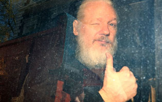 El fundador de WikiLeaks, Julian Assange fue detenido en Londres. Foto: Reuters.
