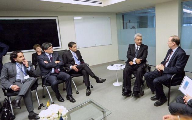 El presidente Moreno se reunió con el presidente del Banco Mundial David Malpss. Foto: Flickr Presidencia