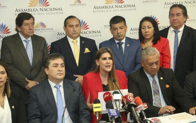 """Se demostrará al país que """"la funcionaria se ha burlado de los intereses de los ecuatorianos"""", dijo Reyes. Foto: Flickr Asamblea"""