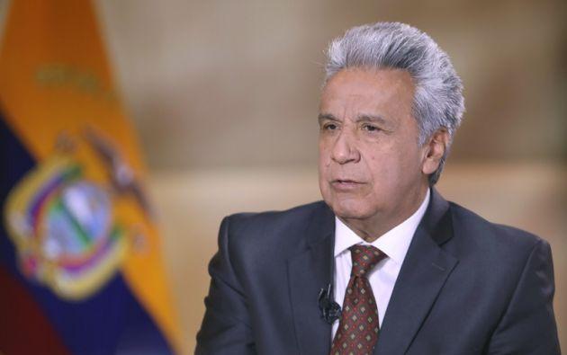 """""""Ha muerto el joven Édison Cosíos, víctima del abuso de poder"""", dijo Moreno. Foto: Flickr Presidencia"""