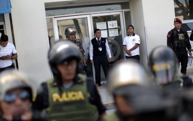 """""""La intervención de la Policía se ha apegado a protocolos establecidos"""", dijo el ministro. Foto: AFP"""