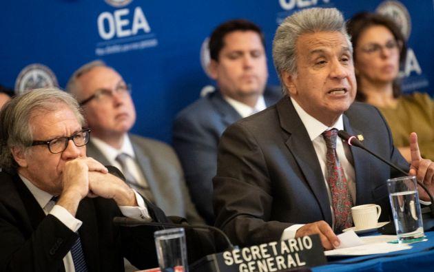 """""""Cada quien escoge la forma de vivir y también la forma de morir"""", dijo Moreno. Foto: AFP"""