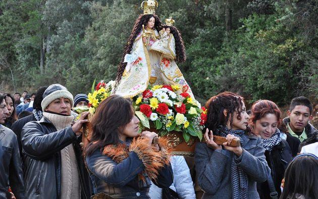 Cada año, cientos de miles de personas acuden a venerar a la Virgen de El Quinche. Foto: archivo