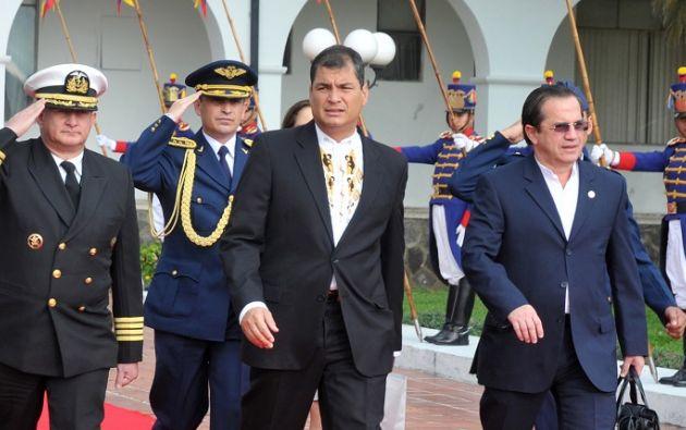 """""""Esta es la persecución que se vive en Ecuador"""", dijo Correa. Foto: archivo"""