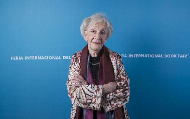 Ida Vitale recibirá el Premio Cervantes 2018 de manos del rey Felipe VI. Foto: Feria Internacional del Libro en Guadalajara.