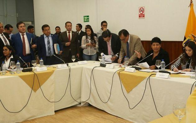 La presidenta de la Comisión, María José Carrión, dispuso notificar a las partes: mediante Cancillería a la exministra. Foto: Flickr Asamblea