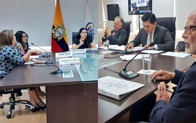 A la izquierda, la Comisión Técnica Ciudadana presentó su renuncia. A la derecha, el Pleno del CPCCS convoca a nueva impugnación.
