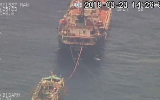 La Armada del Ecuador detectó una flota de 245 barcos pesqueros chinos cerca de Galápagos.