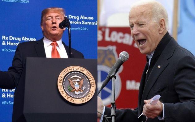 Donald Trump y Joe Biden. Fotos: AFP