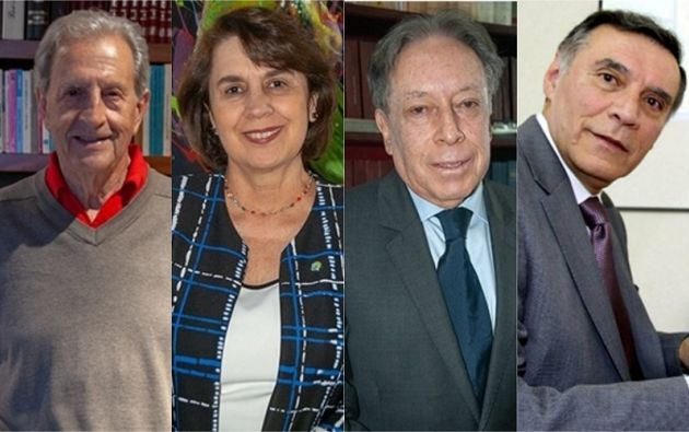 Expresidentes Rodrigo Borja, Rosalía Arteaga, Fabíán Alarcón y Jamil Mahuad.