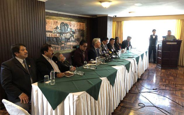 Ayer se reunió la Comisión Nacional Anticorrupción para denunciar que existieron 39 casos de contratación pública con 22 empresas fantasmas.