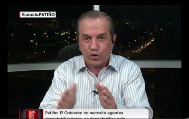 """""""Yo sí tengo que pensar seriamente si me quedo en el país"""", dijo Patiño en CNN antes de abandonar el país."""
