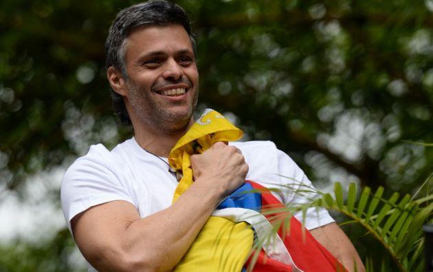 Detenido en 2014, López cumplía desde 2017 en prisión domiciliaria una condena de casi 14 años de cárcel. Foto: AFP.