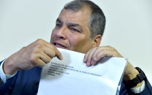 Correa usaba esta red social para mostrar supuesta información sobre las cuentas de INA Investment Corporation. Foto: Reuters