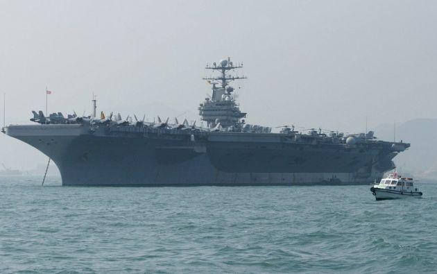 Estados Unidos está enviando un grupo de ataque de portaaviones y un grupo de trabajo de bombarderos a Medio Oriente. Foto: AFP