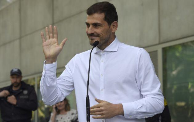 """""""Fue algo que puede suceder en cualquier momento a cualquier persona, me tocó a mí"""", dijo Casillas sobre el infarto que sufrió el pasado miércoles. Foto: AFP."""