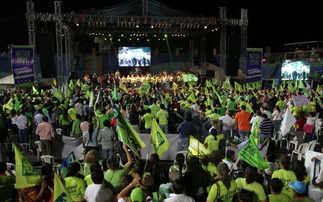 Según el reportaje, el destino de la millonaria recaudación ($11,6 millones) fue financiar la campaña electoral de Alianza PAIS en 2013. Foto: archivo