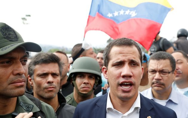 El pasado 30 de abril, Guaidó lideró junto a un grupo de militares y el líder de su partido, Leopoldo López, un breve alzamiento militar. Foto: Reuters