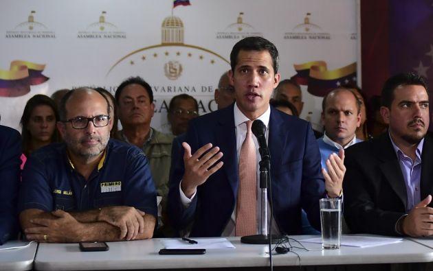 """Guaidó señaló a Maduro de utilizar el """"terrorismo de Estado"""" para hacer creer que controla el país. Foto: AFP"""