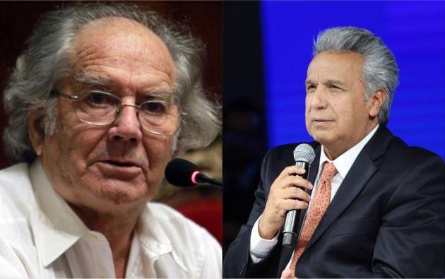 El premio Nobel de la Paz (1980), Adolfo Pérez Esquivel, se dirigió al presidente de la República Lenín Moreno.