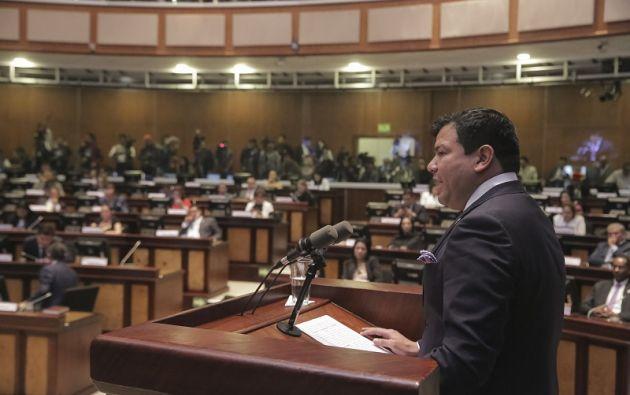 Según Litardo, con la designación de las nuevas autoridades del Parlamento se marcó un cambio de representación territorial e ideológica.